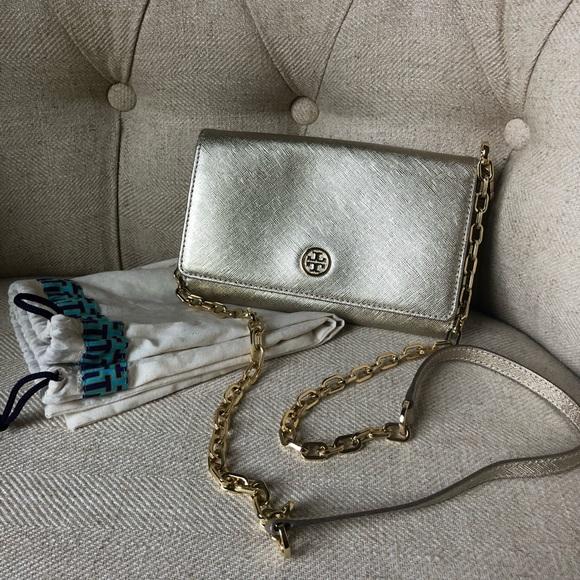 Tory Burch Emerson chain wallet/clutch purse